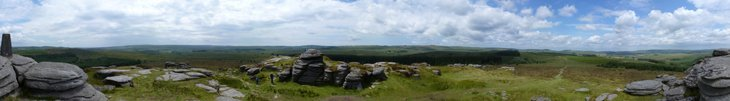 dartmoor small Panoramas Above Dartmoor