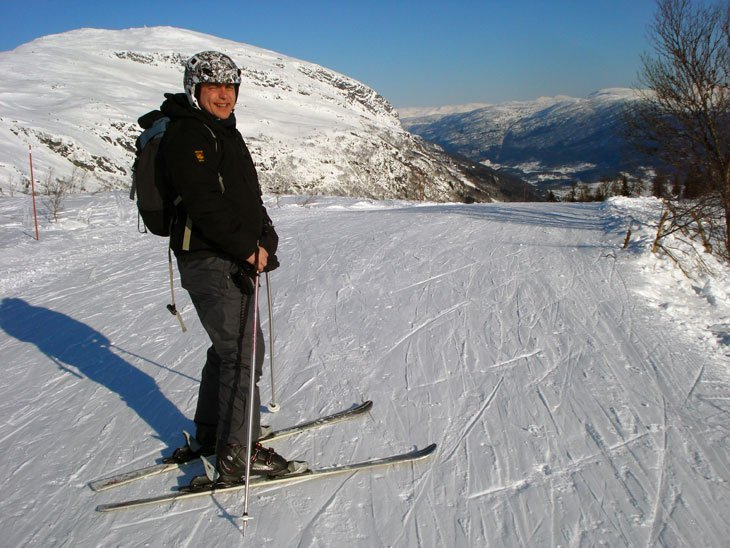 Norway - Skiing above Voss and Bergen Sights