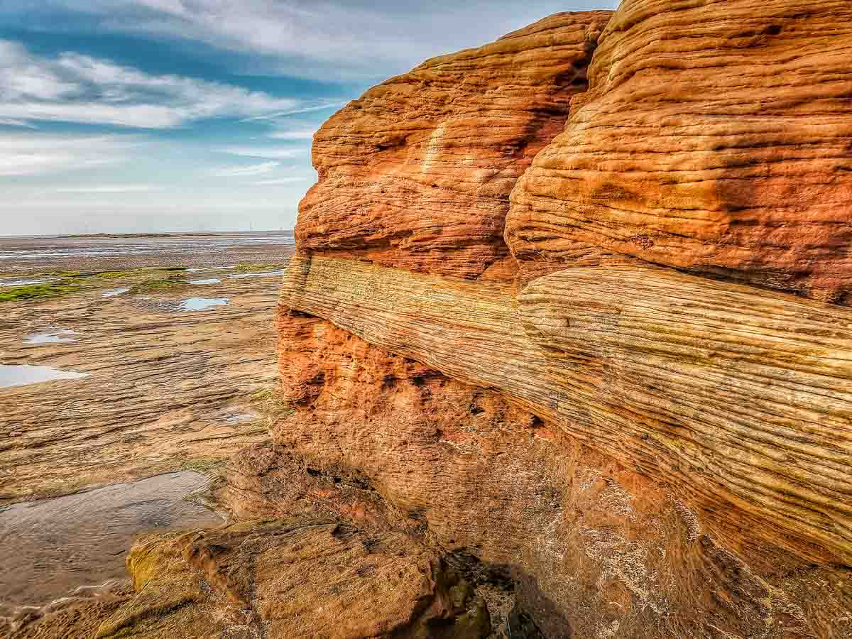 red rocks of Hoylake