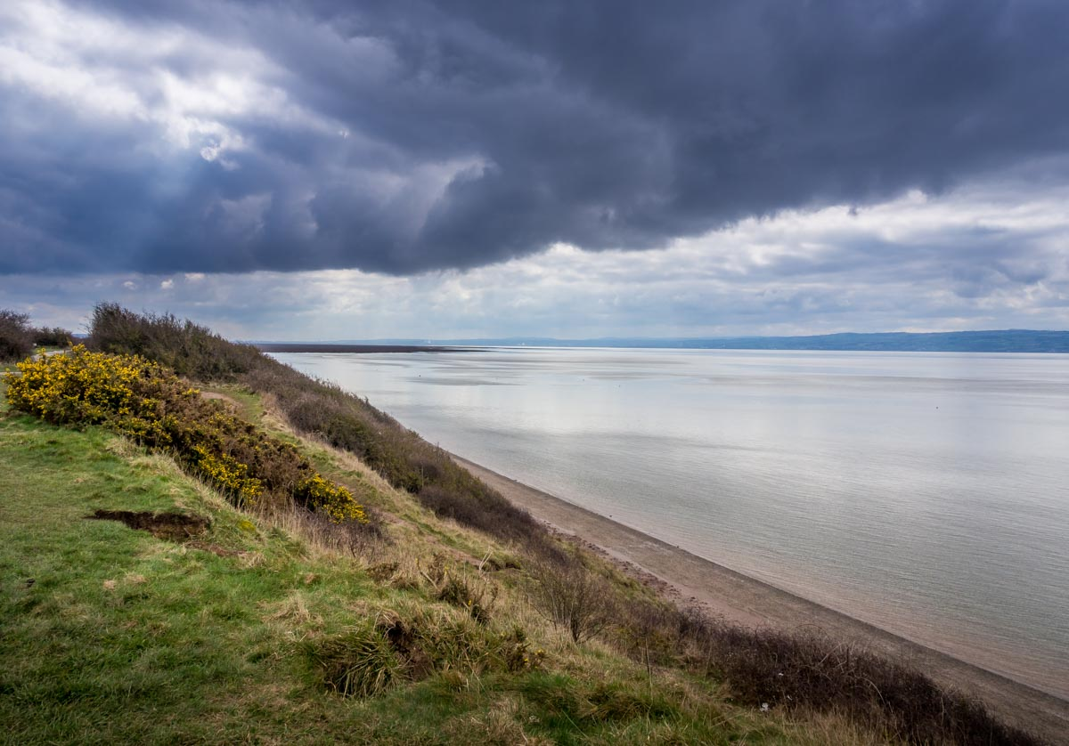 view from cliffs at Wirral Country Park, Thurstaston