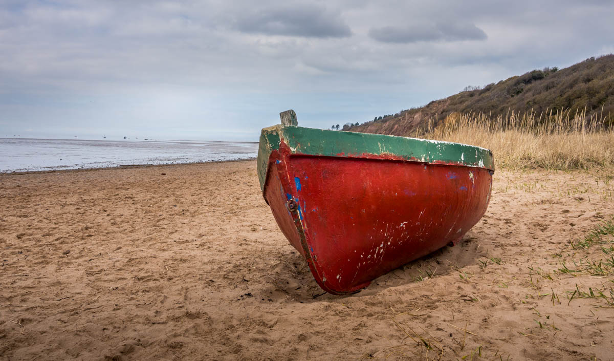 old boat on beach
