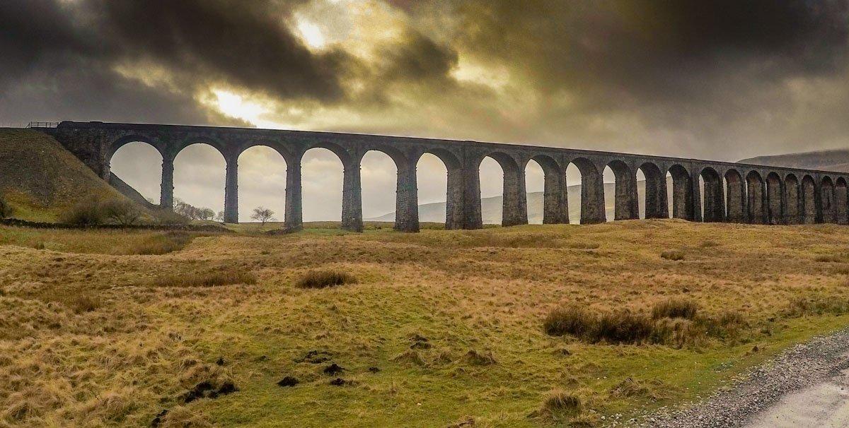 Ribblehead viaduct in cloud