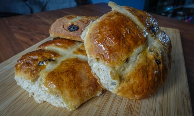 Light and Spicy Hot Cross Buns