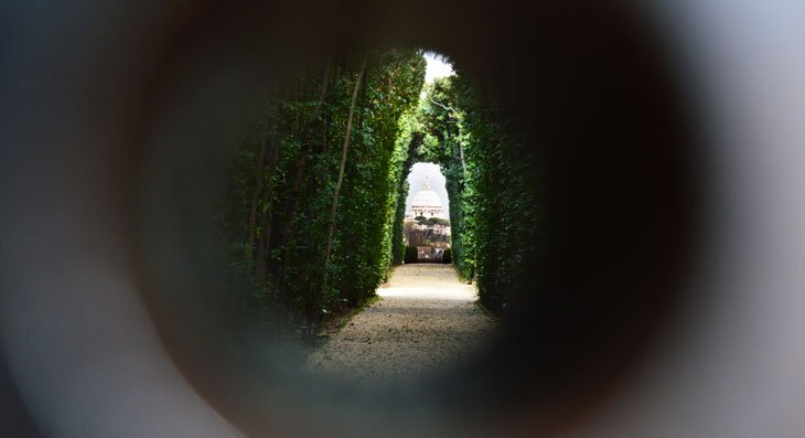 Rome - Peek Through The Keyhole To Another Country