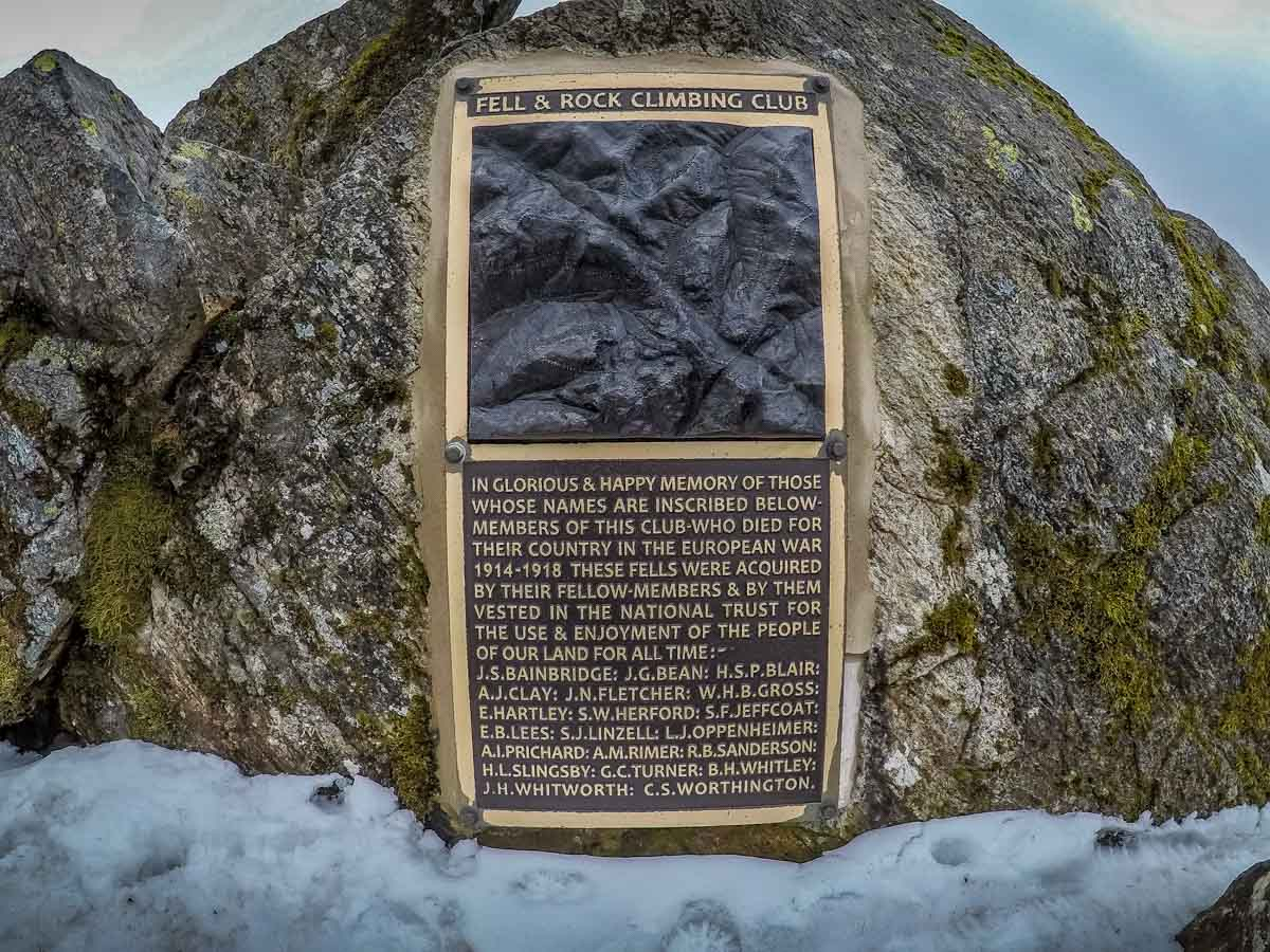 great gable rock climbing plaque