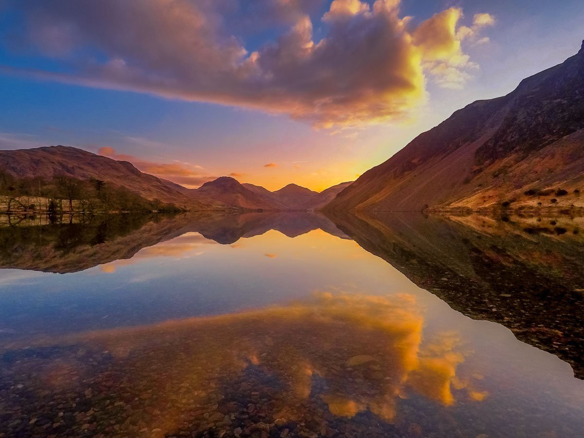 Wast Water at sunset