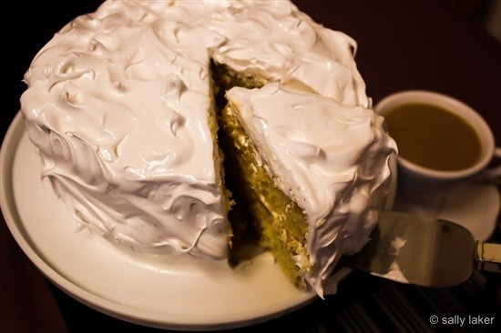 Luscious Lemon Meringue Cake