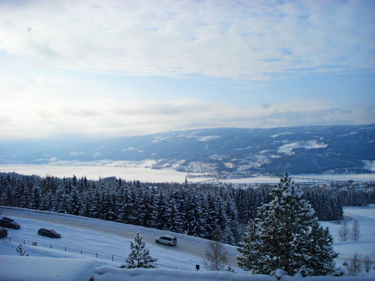 view over lillehammer