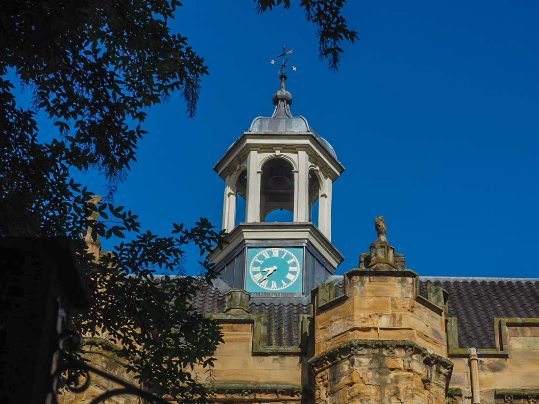 clock on the castle lumley