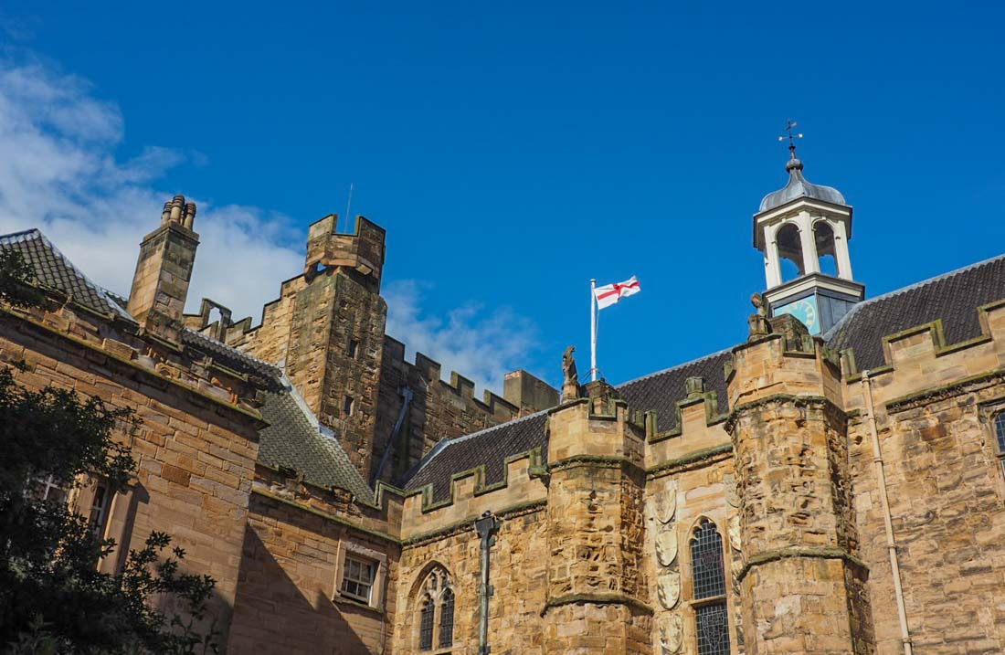 flag on castle