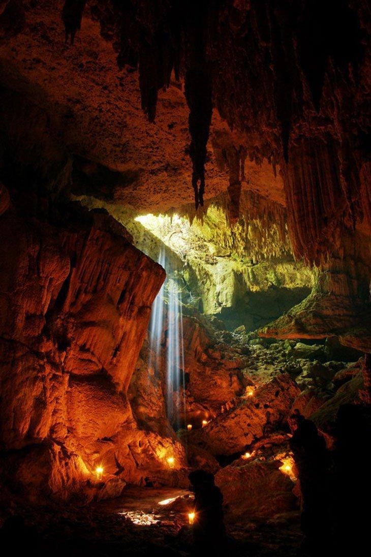 cave waterfall rio secreto