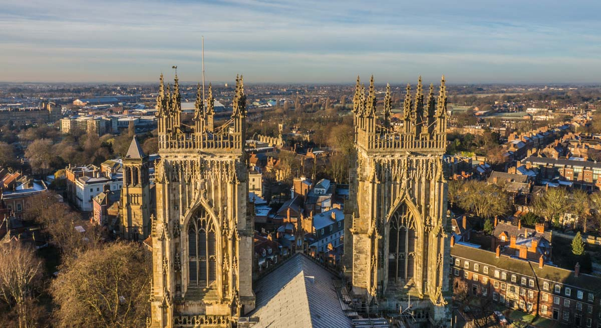 View from York Minster Central Tower