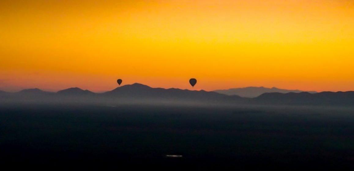Marrakech by Balloon at sunset