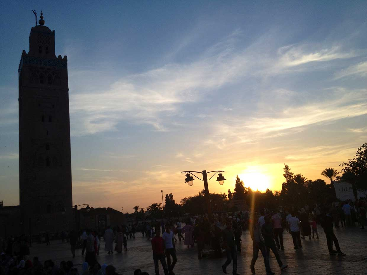 Good Evening From Koutoubia Mosque, Marrakech #ExodusTrek