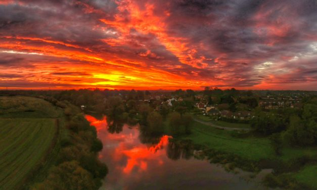 Scenes Above The River Ouse, Yorkshire