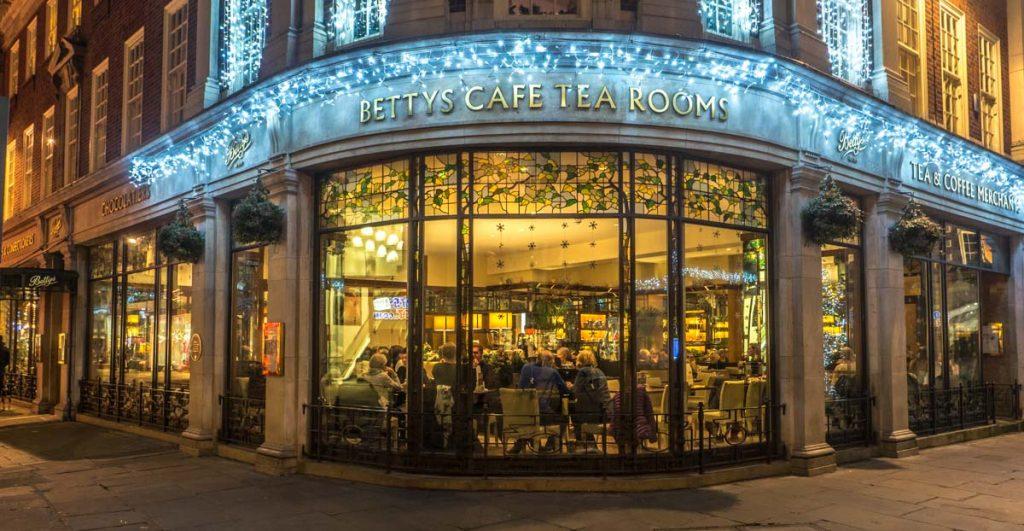 bettys tea room at night