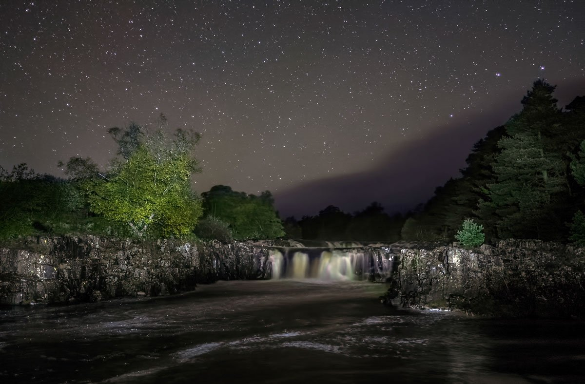 Stargazing and Photos at Low and High Force, Durham