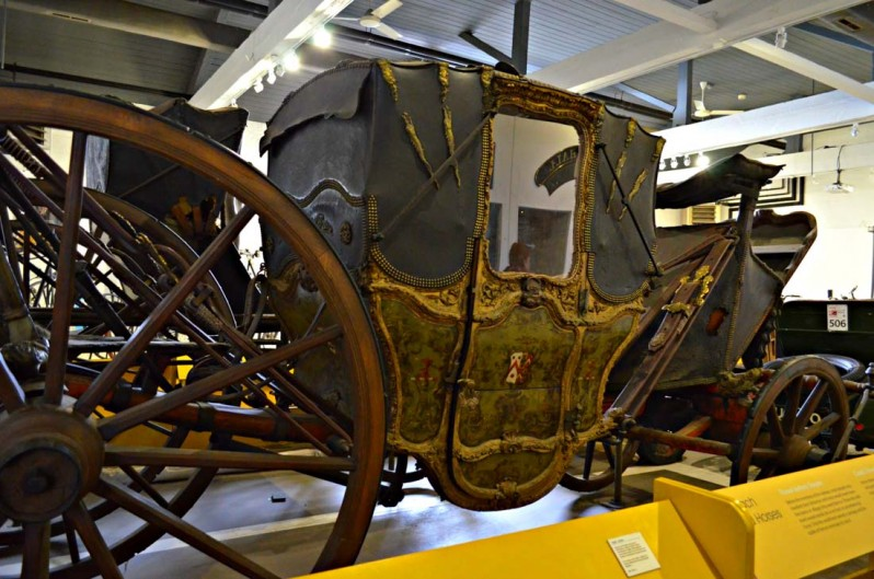 17th century carriage which was once owned by the Baskerville family