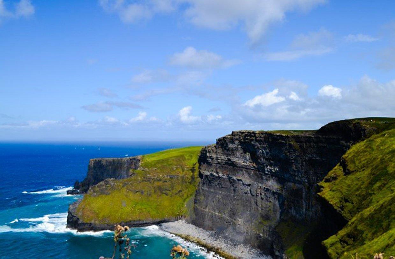 cliifs and sea atlantic ireland