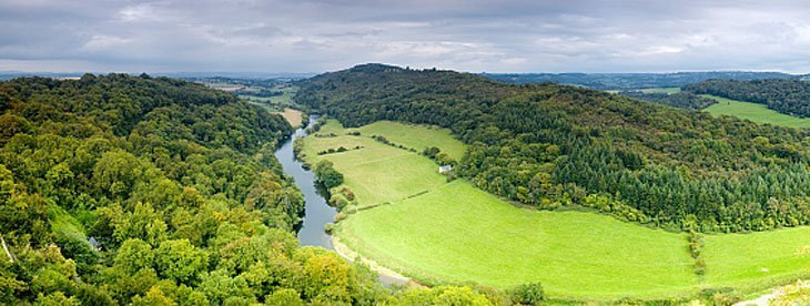 panoramic view of the river wye