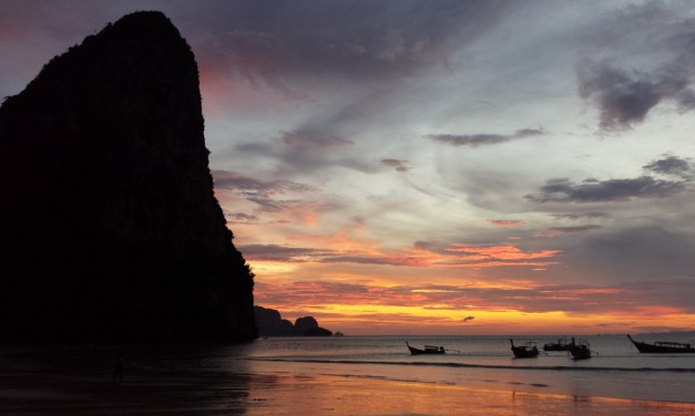 Watching Sunset on Railay Beach, Thailand