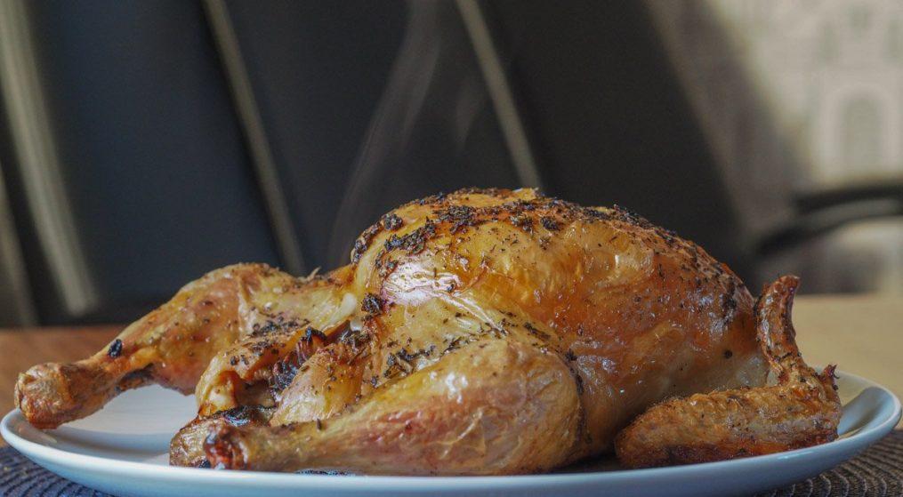 Good Roast Chicken recipe & Herby Roast Potatoes
