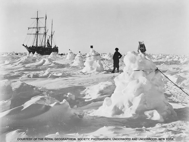 shackleton ship in ice
