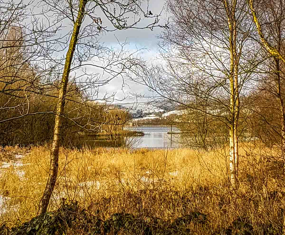 snow-lake Hollingworth Lake, Rochdale - A Wintry Walk Around A Local Gem