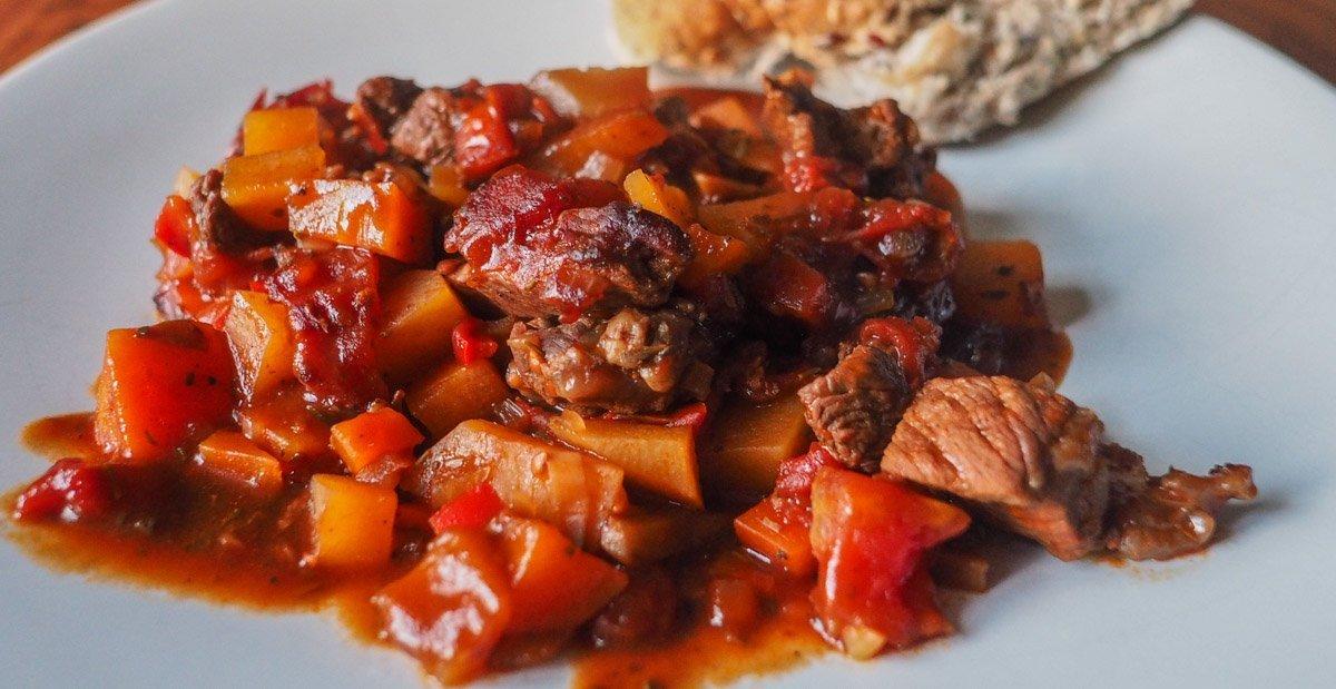 Beef Casserole served