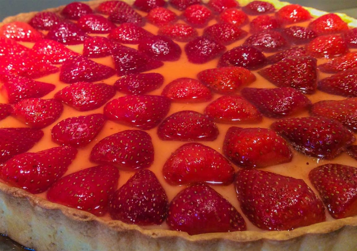 Glazed Strawberry & Creme Patissiere Tart