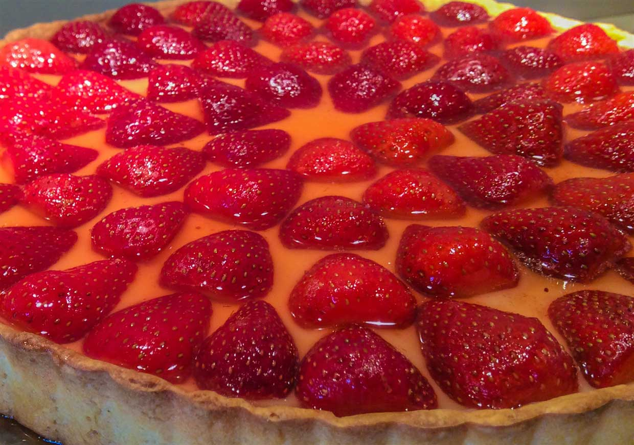 Glazed Strawberry & Creme Patissiere Tart