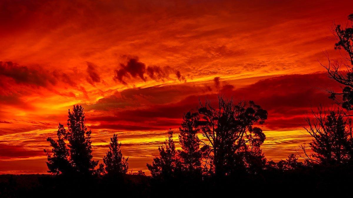 sunset6 Australian Summer Sunsets on Tugalong Road