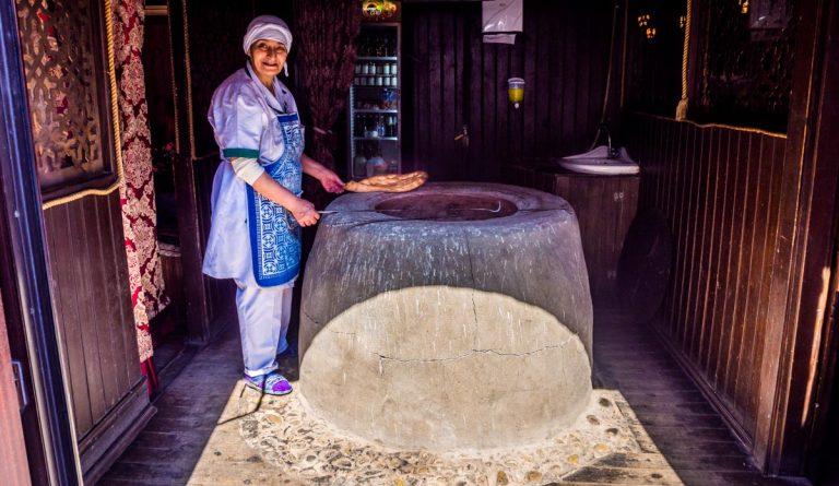 Azerbaijan – Təndir Bread in Old City Baku