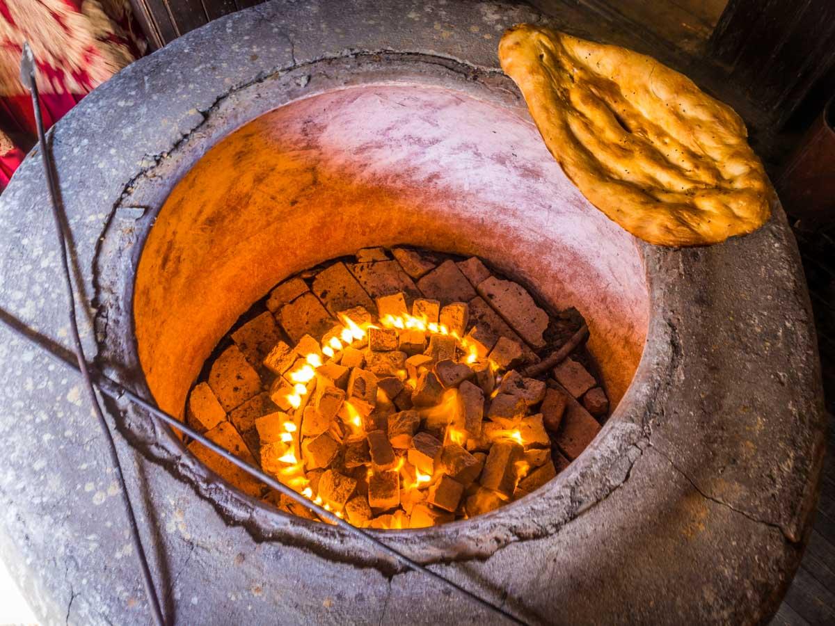 Tandir bread oven stone