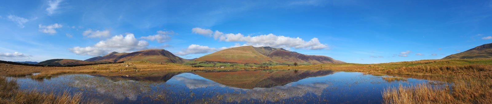 Tewet Tarn looking over to Skiddaw and Blencathra