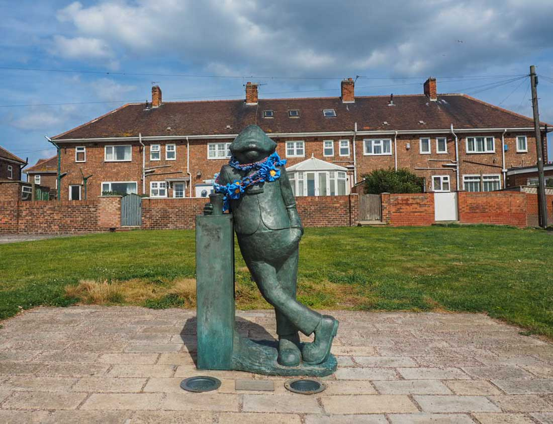 Andy capp statue Hartlepool