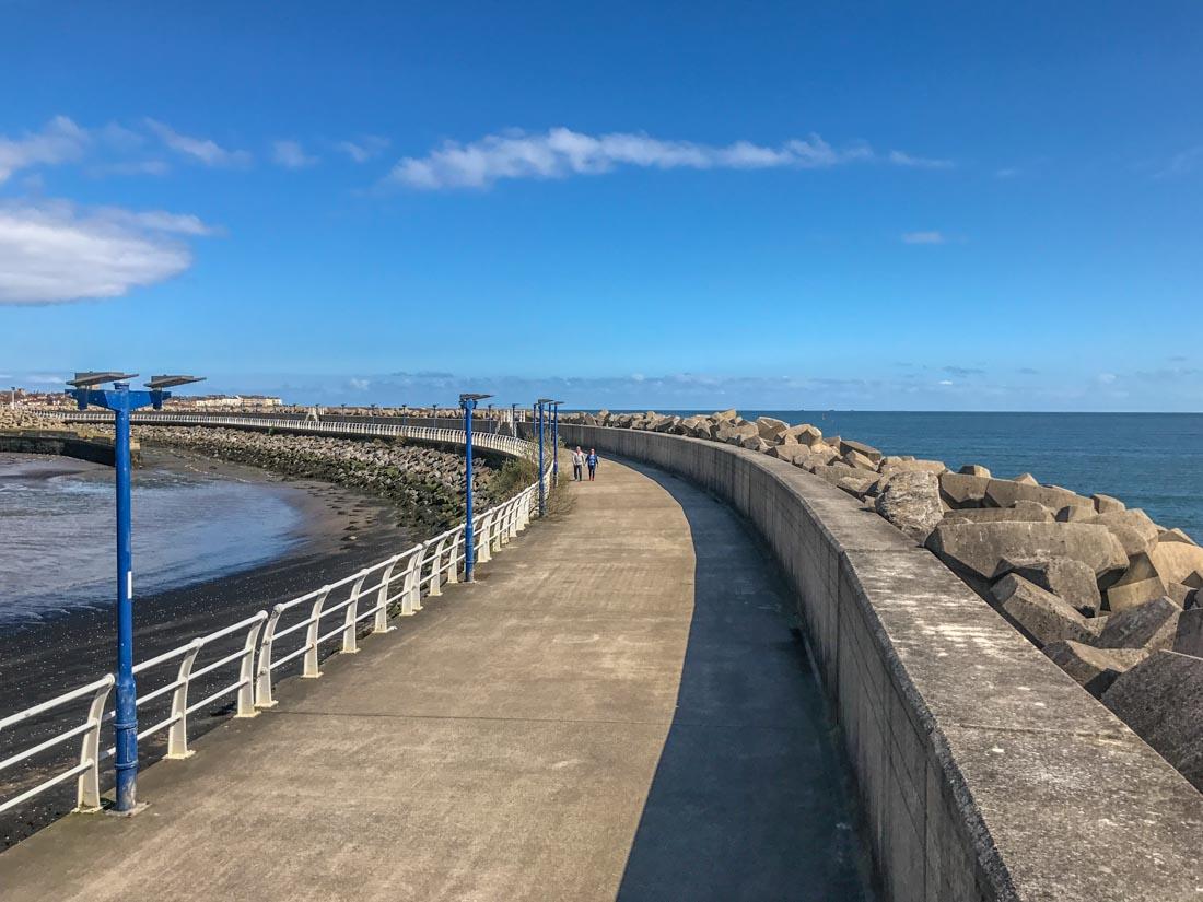 sea wall walk near Hartlepool