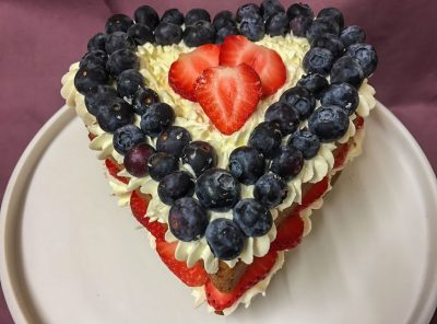 Fruity Heart Cake Recipe