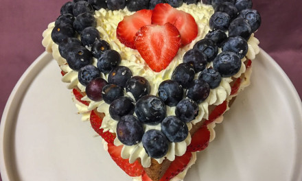 Fruity Heart Cake