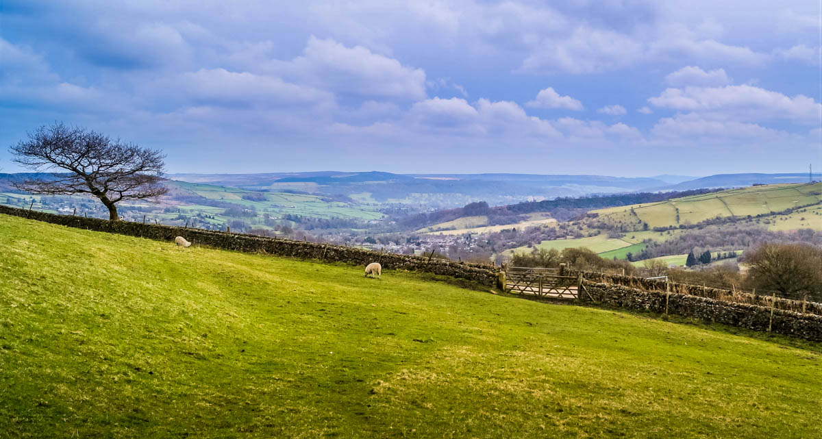 view-from-graves Eyam, The Peak District's Plague Village
