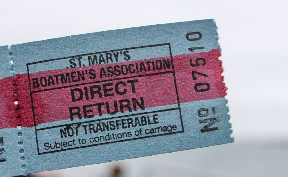 Ticket for St Mary's Boatmen association