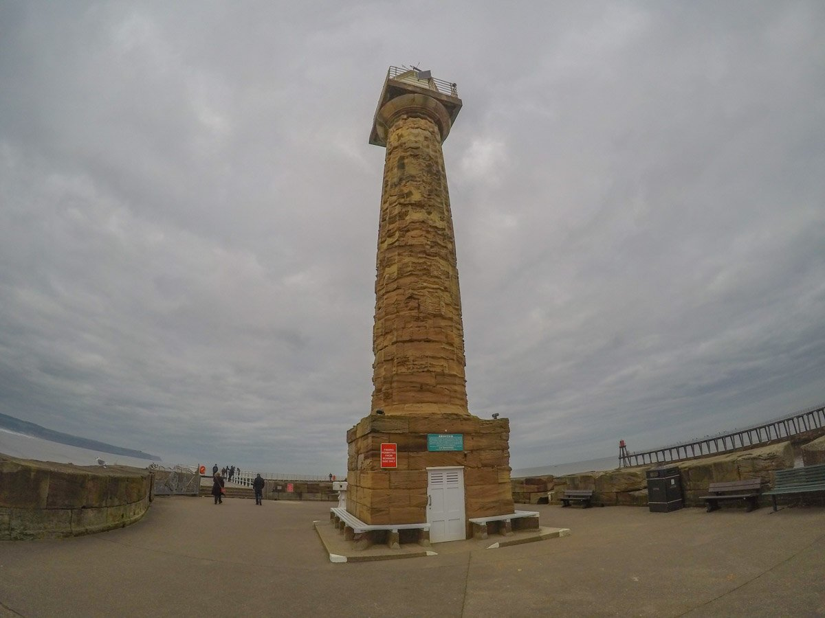 19th century lighthouse at whitby