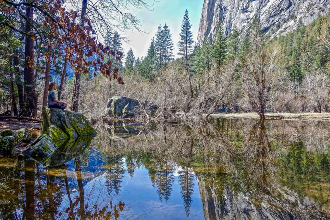 yosemite reflections in lake